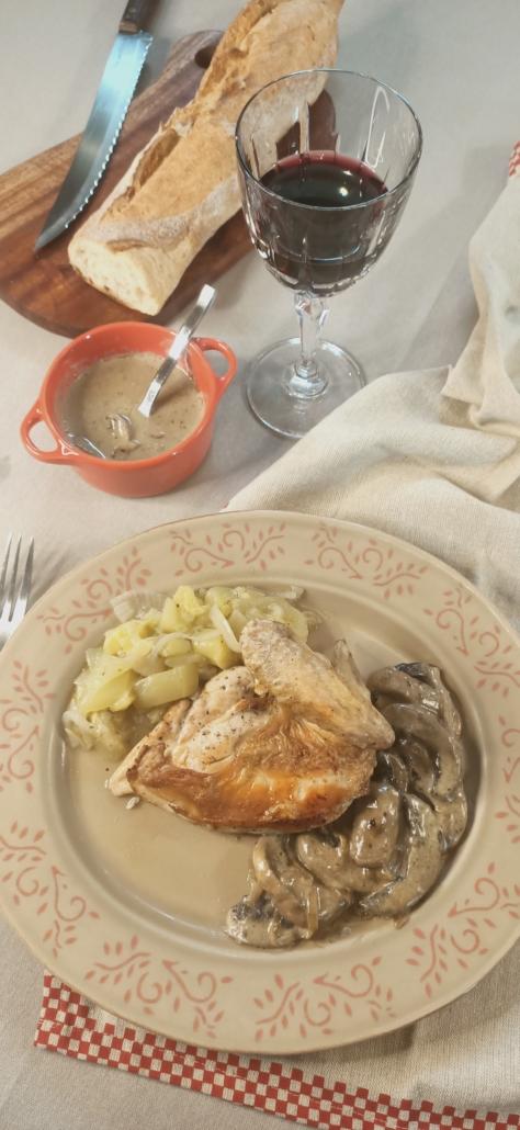 Suprêmes de poulet au maroilles